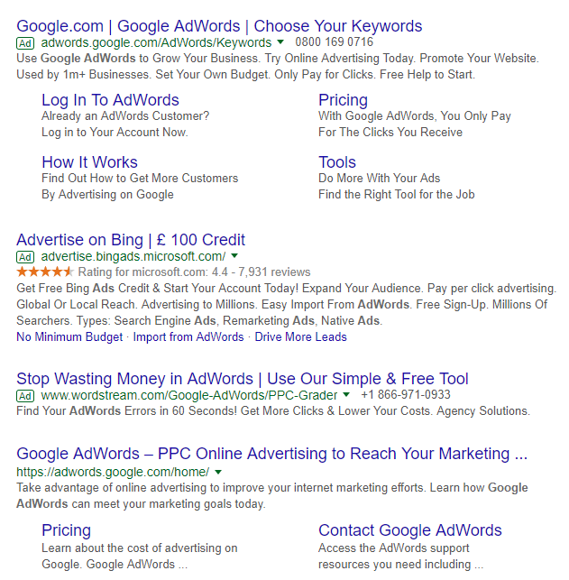 Google Adwords : where will ads appear?