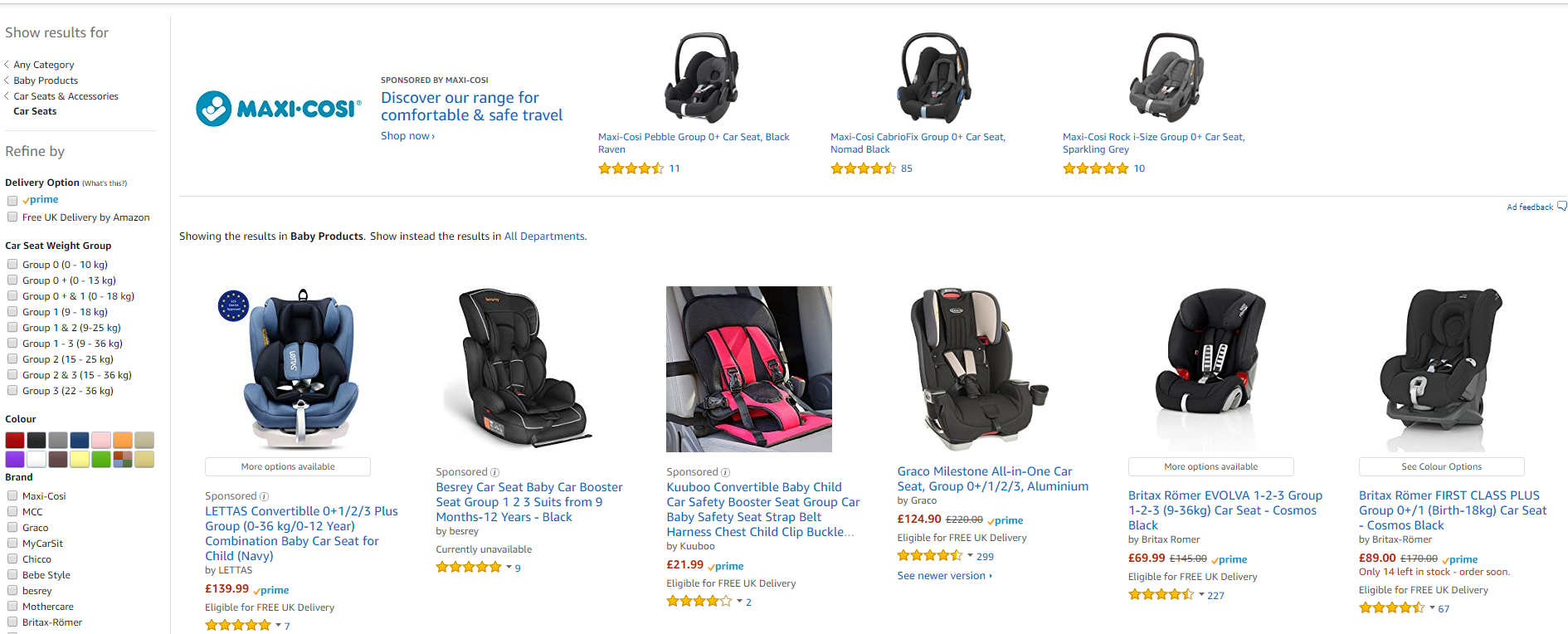 Amazon Products Results Ads