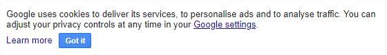 Googleinformaa sus usuarios de que pueden personalizarel control de la privacidad desde Ajustes.